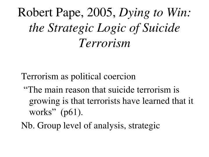 Robert Pape, 2005,