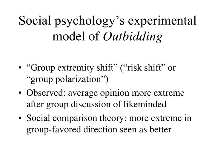 Social psychology's experimental model of
