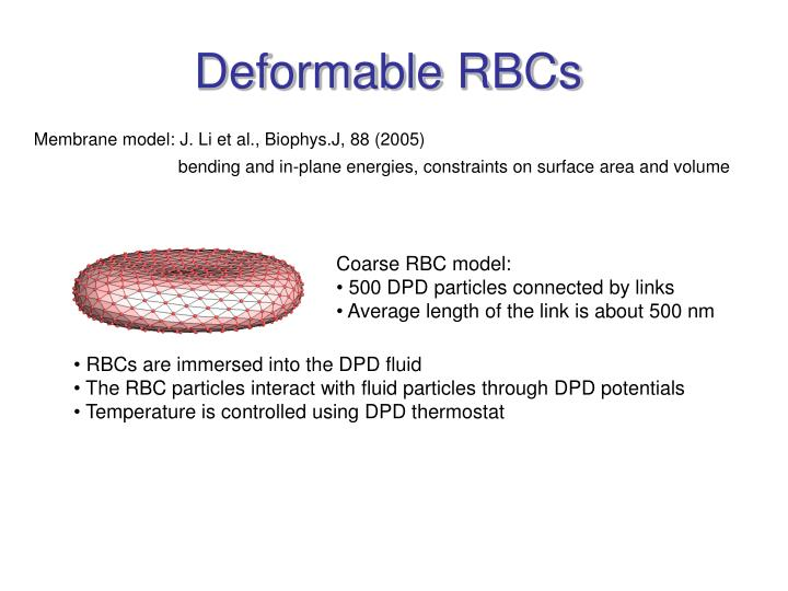 Deformable RBCs