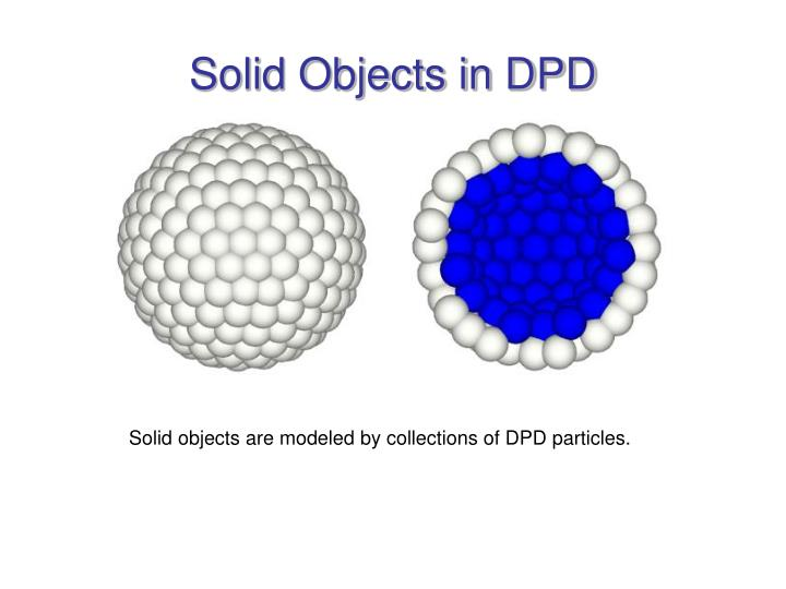 Solid Objects in DPD