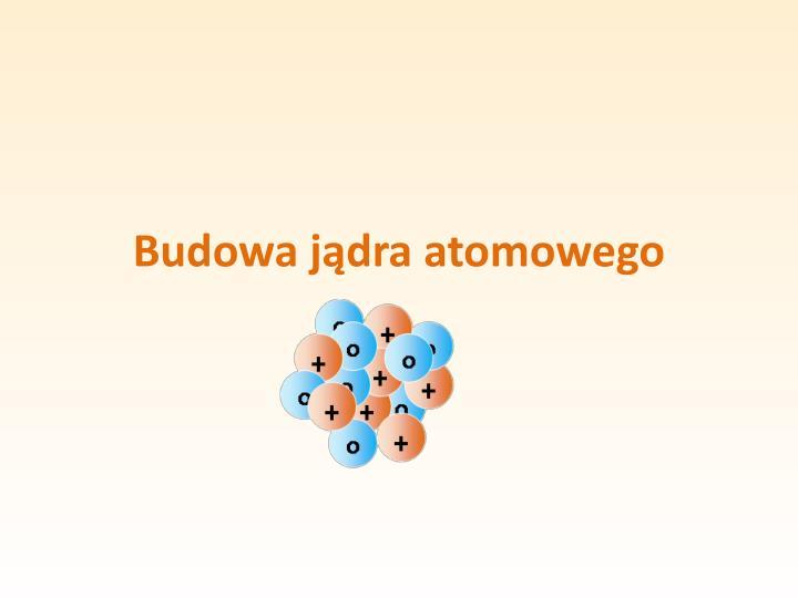 Budowa jądra atomowego
