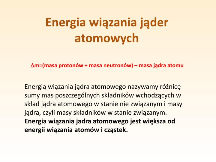 Energia wiązania jąder atomowych