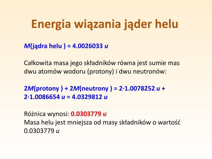 Energia wiązania jąder helu