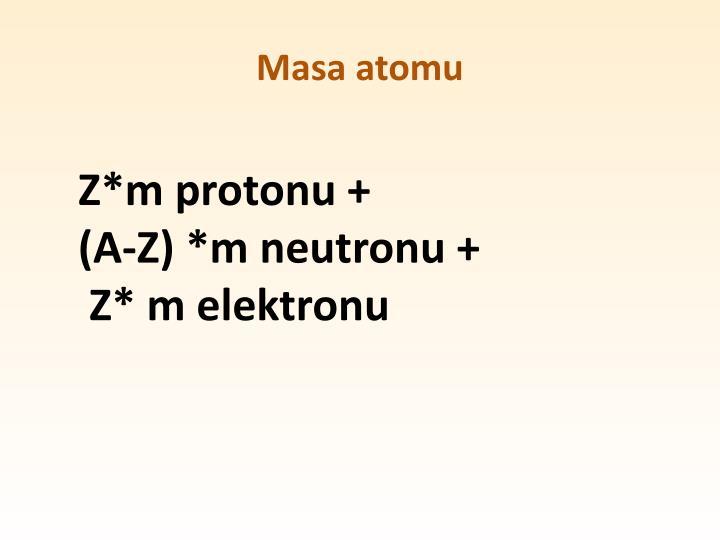 Masa atomu