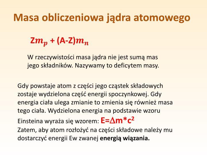 Masa obliczeniowa jądra atomowego