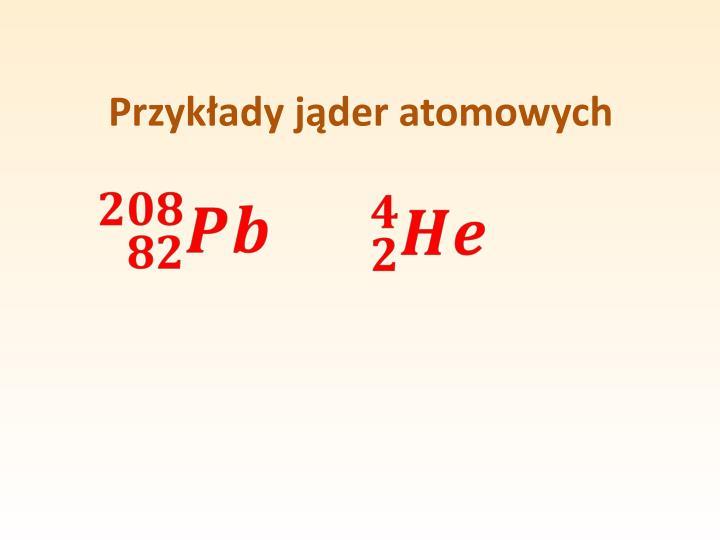 Przykłady jąder atomowych