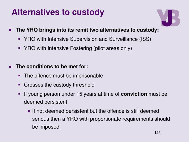 Alternatives to custody