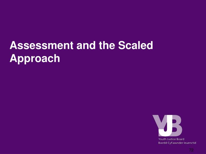 Assessment and the Scaled Approach