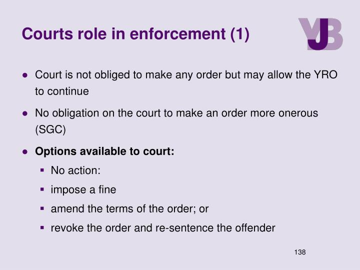 Courts role in enforcement (1)