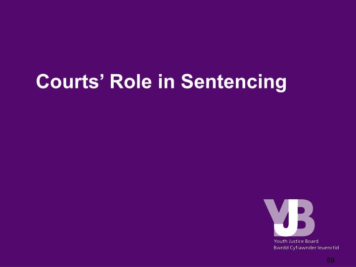 Courts' Role in Sentencing