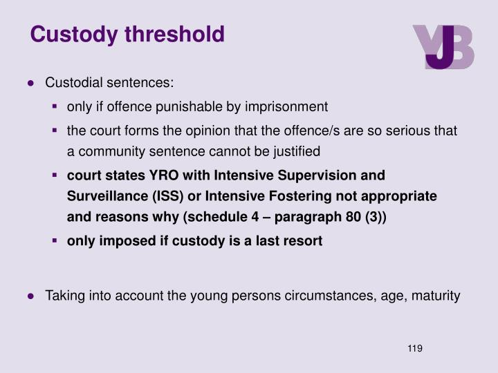 Custody threshold