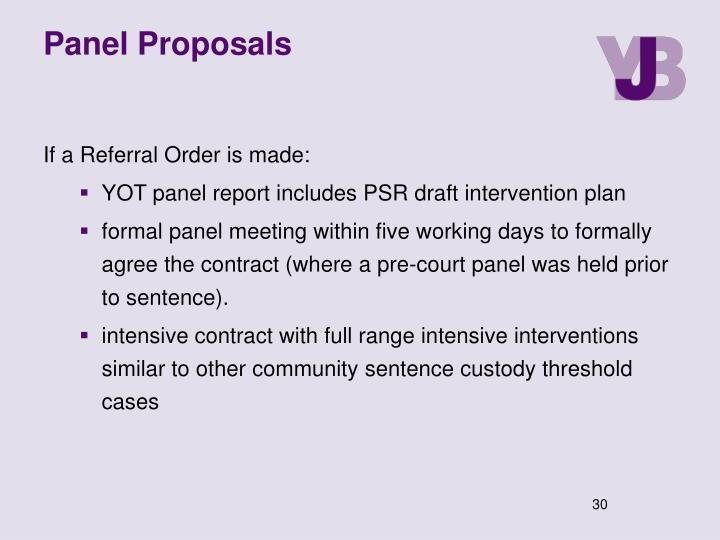 Panel Proposals