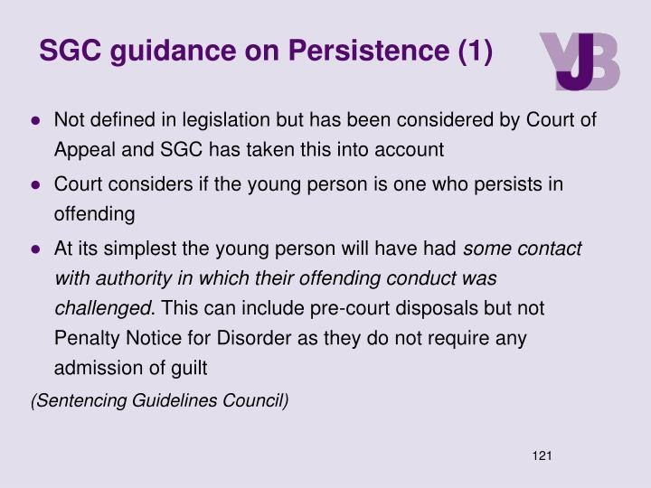 SGC guidance on Persistence (1)