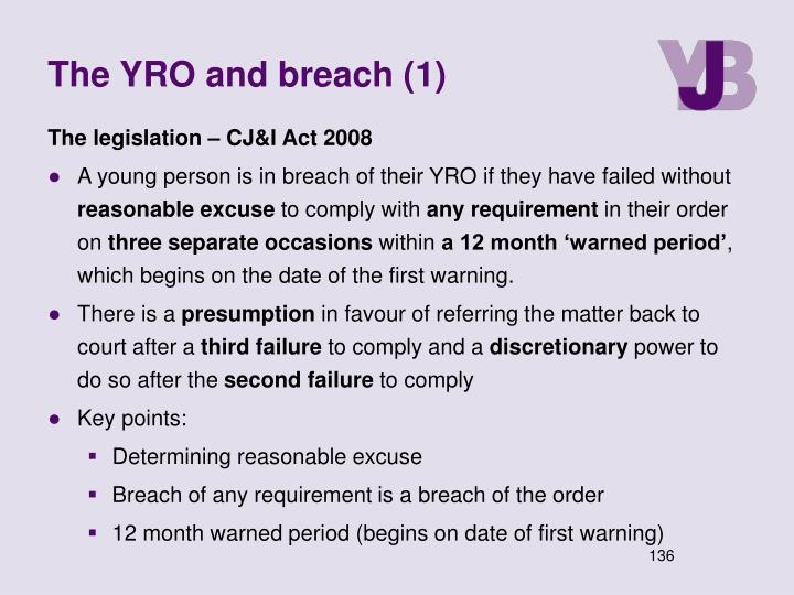The YRO and breach (1)