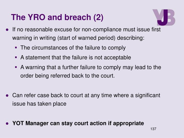 The YRO and breach (2)
