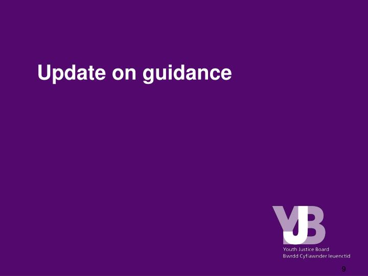 Update on guidance