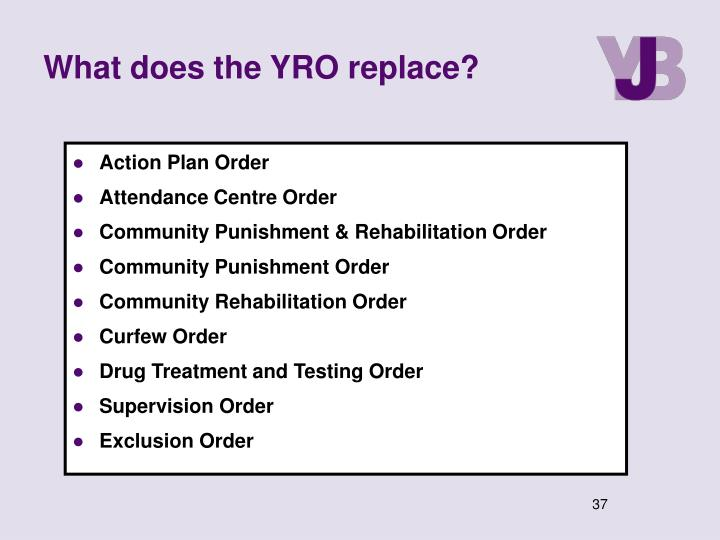 What does the YRO replace?