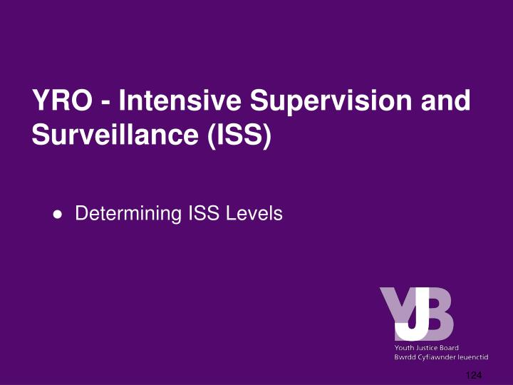YRO - Intensive Supervision and Surveillance (ISS)