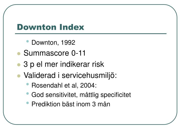 Downton Index