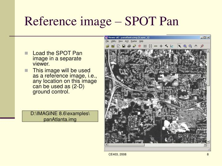 Reference image – SPOT Pan