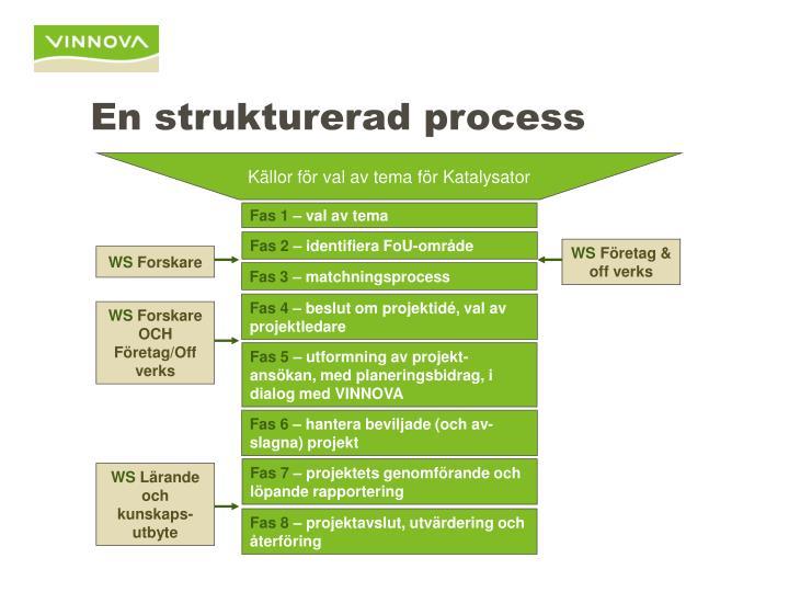 En strukturerad process