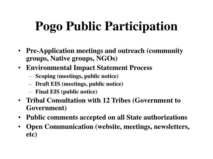 Pogo Public Participation