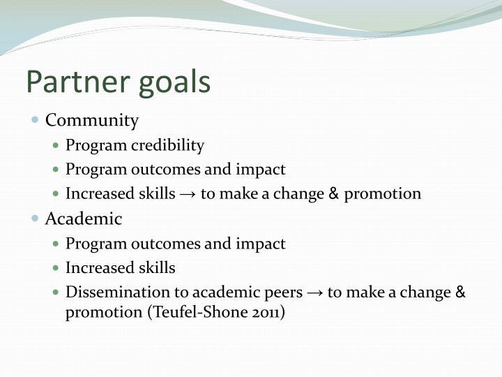 Partner goals
