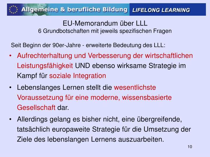EU-Memorandum über LLL