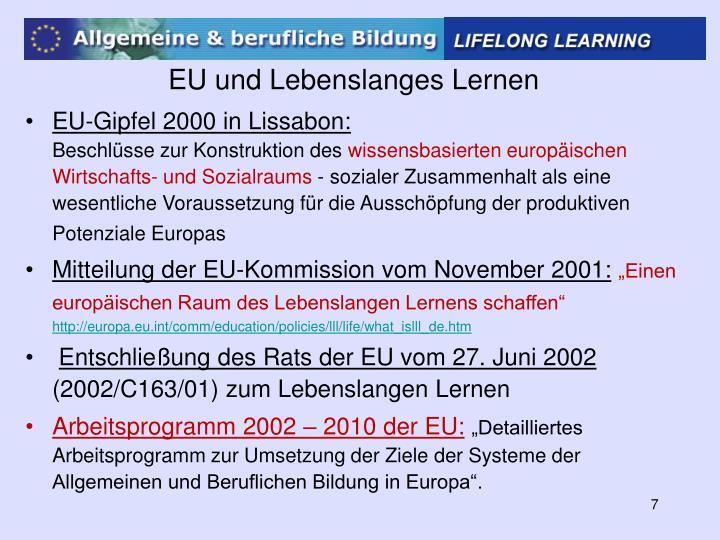 EU und Lebenslanges Lernen