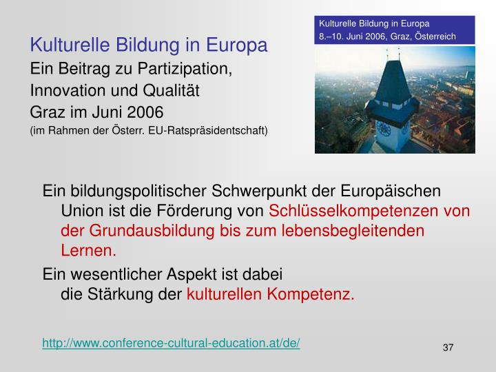 Kulturelle Bildung in Europa