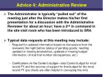 advice 4 administrative review