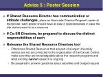 advice 5 poster session1