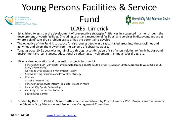 Young Persons Facilities & Service Fund