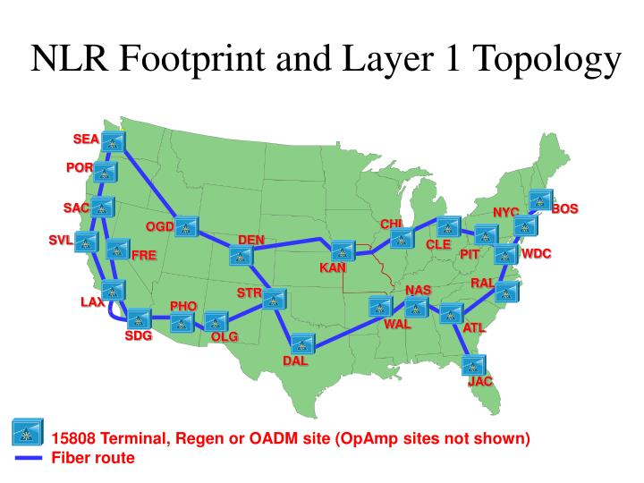 NLR Footprint and Layer 1 Topology