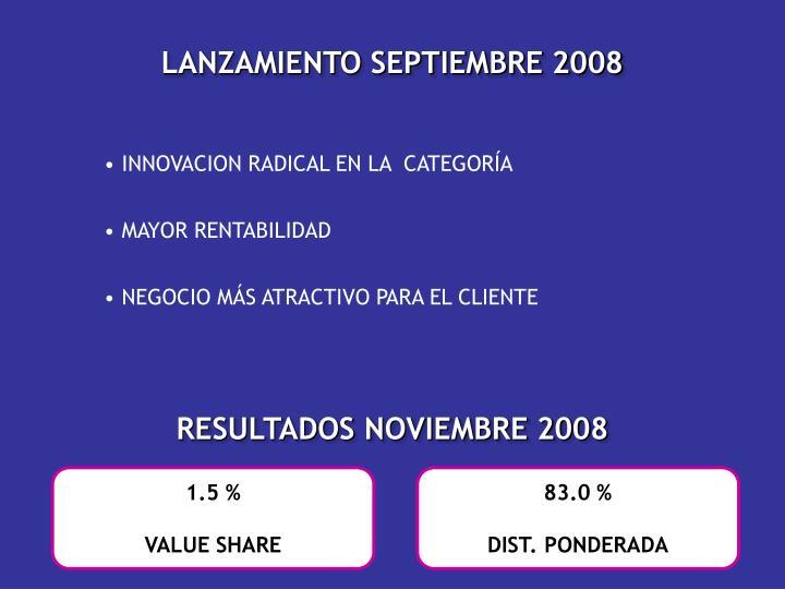 LANZAMIENTO SEPTIEMBRE 2008
