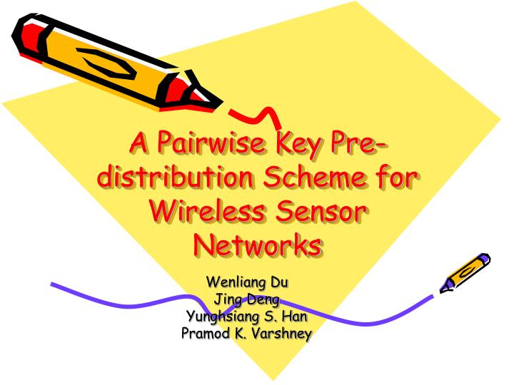 A Pairwise Key Pre-distribution Scheme for