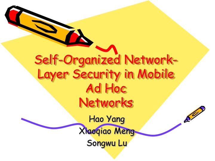 Self-Organized Network-Layer Security in Mobile Ad Hoc