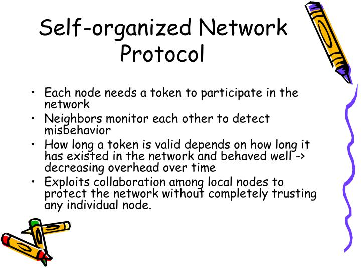Self-organized Network Protocol