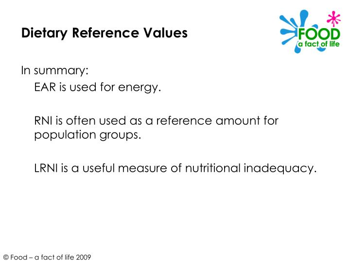 Dietary Reference Values