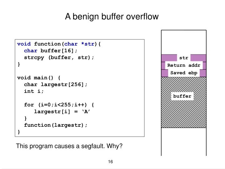 A benign buffer overflow