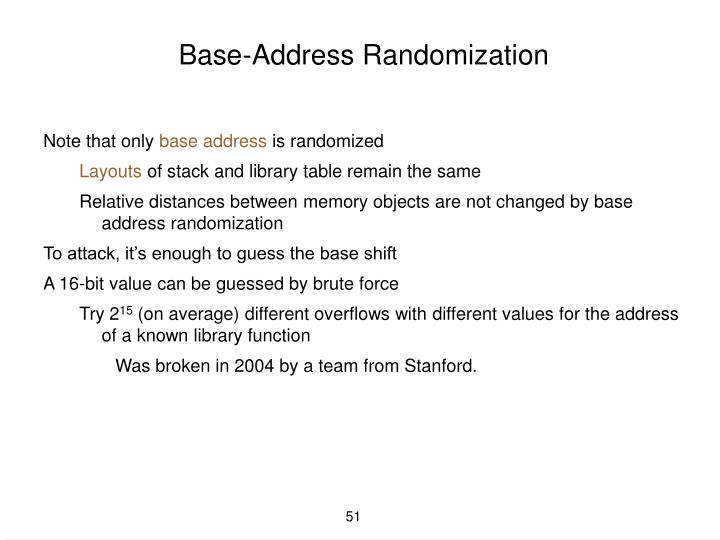 Base-Address Randomization