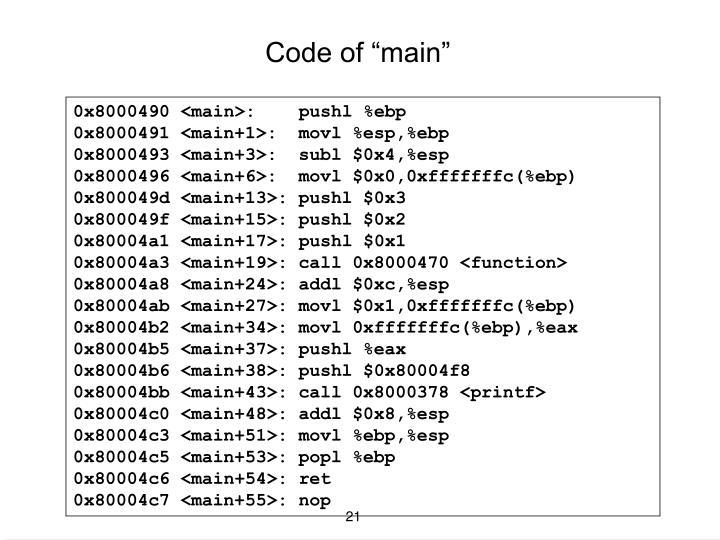 """Code of """"main"""""""