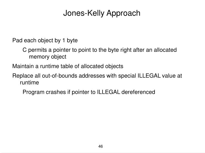 Jones-Kelly Approach