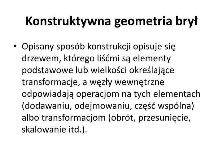 Konstruktywna geometria brył