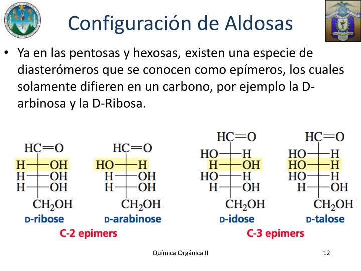 Configuración de Aldosas