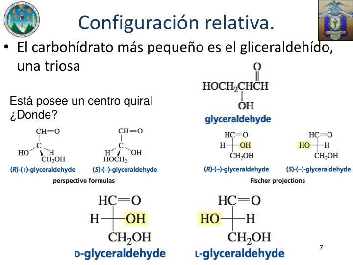 Configuración relativa.