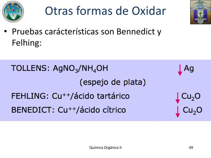 Otras formas de Oxidar