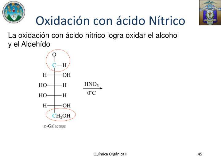 Oxidación con ácido Nítrico
