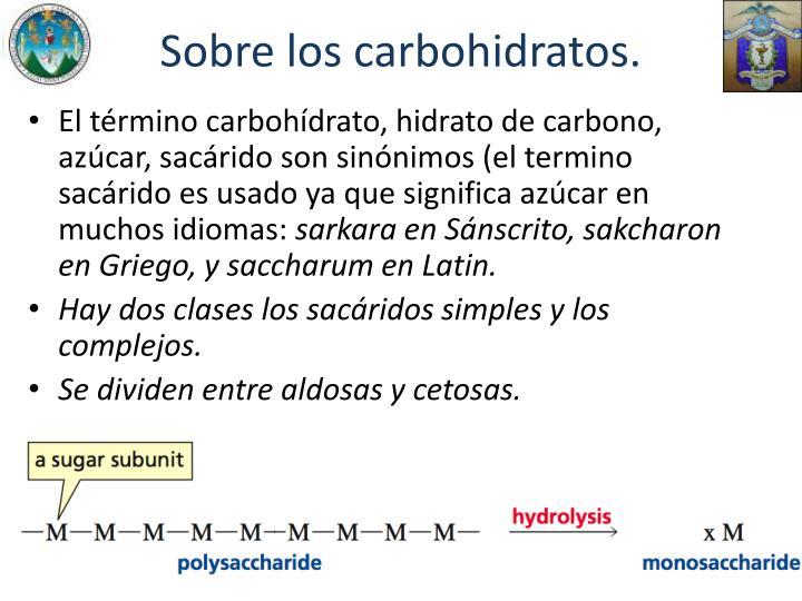 Sobre los carbohidratos.