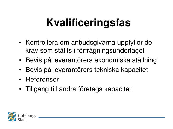 Kvalificeringsfas